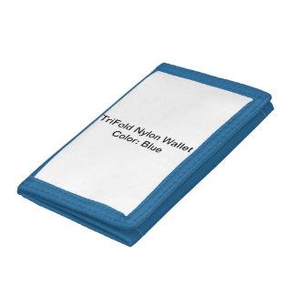 De Nylon (Blauwe) Portefeuilles van TriFold van de