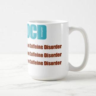 De Obsessieve Wanorde van de Cafeïne OCD Koffiemok