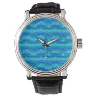De oceaan Blauwe Stukken van het Raadsel Horloges