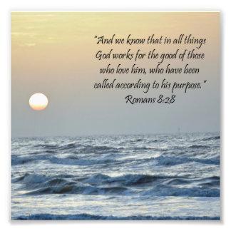 De oceaan Druk van het Heilige Schrift van het 8:2 Foto Afdruk