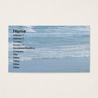De oceaan Kaart Bedrijfs van het Profiel Visitekaartjes