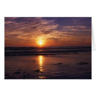 De oceaan kaart van de zonsondergangVerjaardag
