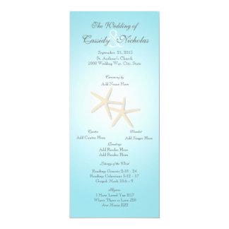 De oceaan Kaart van het Programma van het Huwelijk 10,2x23,5 Uitnodiging Kaart