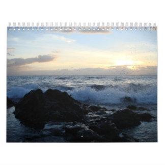 De oceaan Kalender van het Zonsondergang 2009
