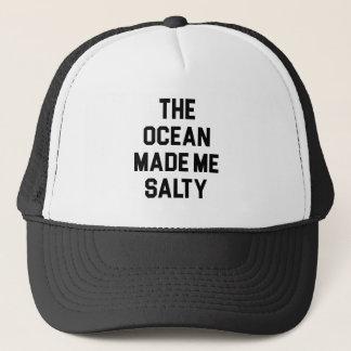De oceaan maakte me Zout Trucker Pet
