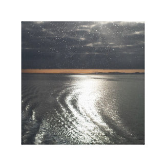De oceaan schittert gallerij wrapped canvas