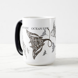 De OCEAAN school van het LEVEN van manta-straal Magische Mok