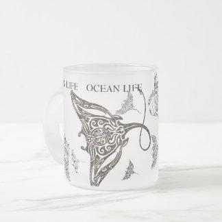 De OCEAAN school van het LEVEN van manta-straal Matglas Koffiemok