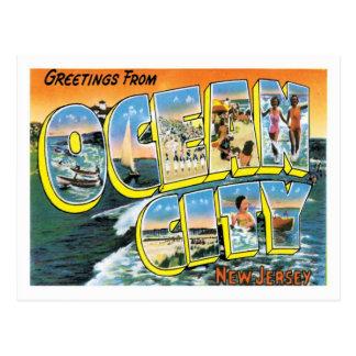De oceaan Stad van de Stad NJ Verenigde Staten Briefkaart