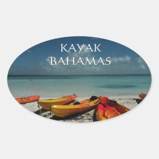 De oceaan Sticker van de Bahamas van de Kajak