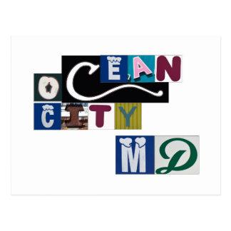 De oceaan Tekens van het M.D. van de Stad Briefkaart