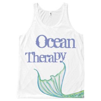 De oceaan Therapie door Meermin ontwerpt meestal All-Over-Print Tank Top