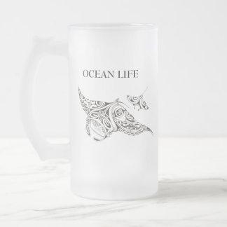 De OCEAAN tweelingstralen van het LEVEN Matglas Bierpul
