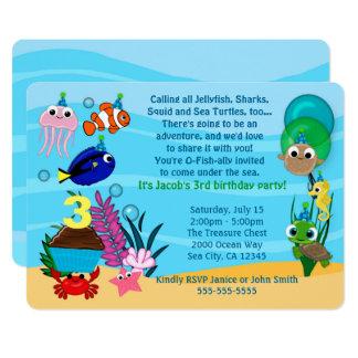 De oceaan Uitnodigingen van de Verjaardag van