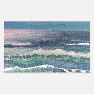 De Oceaan van de veenmol - het Zeegezicht van het Rechthoekige Sticker