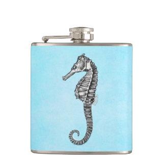 De OceaanSjabloon Seahorse van het vintage Heupfles