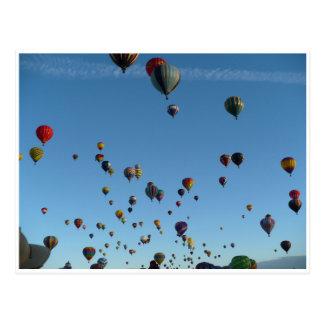 De ochtendbriefkaart van de ballon briefkaart