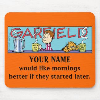 De Ochtenden Mousepad van Logobox van Garfield Muismat
