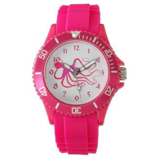 De Octopus van Amy - het Sportieve Roze Horloge