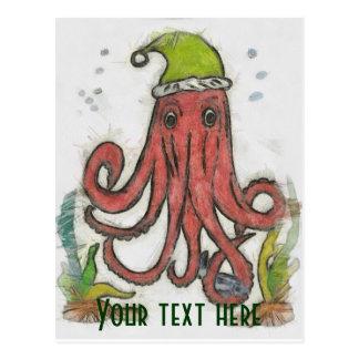 De octopusvan de vakantie briefkaart