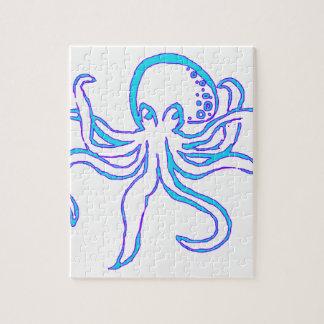 De Octopus van het neon Puzzels