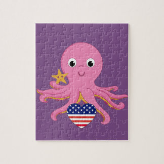 De Octopus van het raadsel voor een Preemie de Foto Puzzels