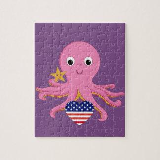 De Octopus van het raadsel voor een Preemie de Legpuzzel