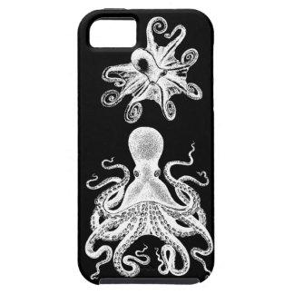 De Octopus Victoriaans Kraken Zwarte iphone5 van S Tough iPhone 5 Hoesje