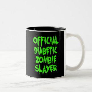 De officiële DiabetesMoordenaar van de Zombie Tweekleurige Mok