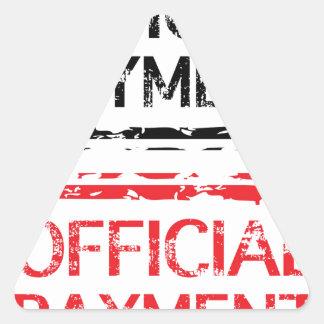 De officiële Zegel van Grunge van de Betaling Driehoekige Stickers