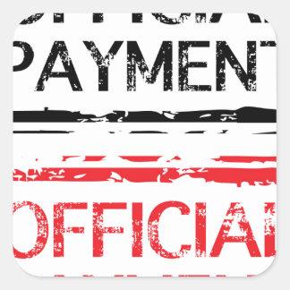 De officiële Zegel van Grunge van de Betaling Vierkant Stickers