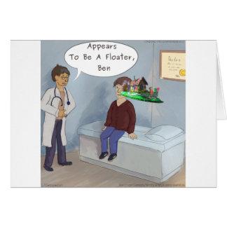 De oftalmoloog vindt een Oog Floater van de Parade Briefkaarten 0