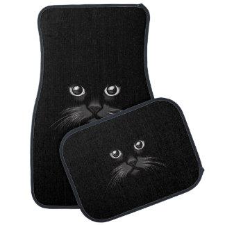 De Ogen die van de zwarte Kat op u letten Automat