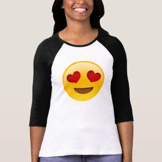 De Ogen EmojiTee van het hart T Shirt