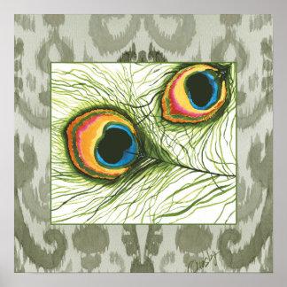 De ogen van de pauw poster