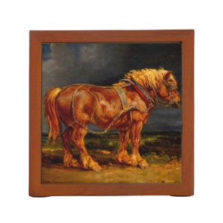 de olie van paardenschilderijen pennenhouder