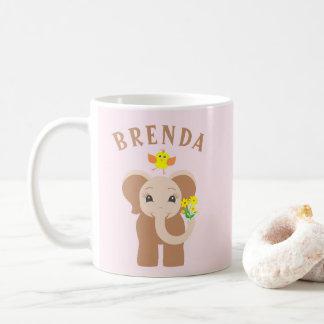 De Olifant & de Vogel van de Naam van de douane de Koffiemok