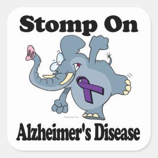 De olifant stampt op Ziekte Alzheimers Vierkante Sticker