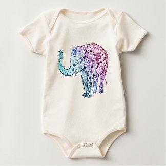 """De """"olifant van de henna """" baby shirt"""