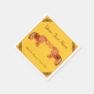 De Olifant van de henna (Sinaasappel/Rood) Wegwerp Servet