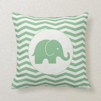 De olifants groene kussen van het