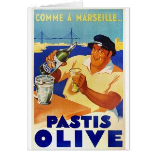 De Olijf van Pastis - Comme Marseille Kaart