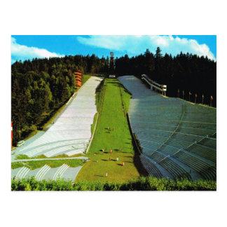 De Olympische Skisprong van vintage Oostenrijk, Briefkaart