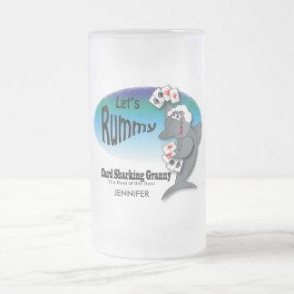 De Oma van de Haai van de kaart - Humor Matglas Bierpul