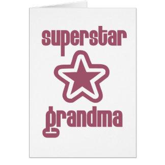 De Oma van de superster Wenskaart