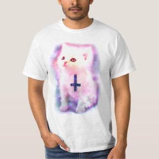 De omgekeerde DwarsT-shirt van het Katje T Shirt