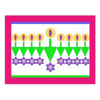 De omgekeerde Kerstkaart van de Chanoeka Briefkaart
