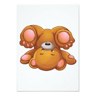 De omgekeerde Uitnodigingen van de Teddybeer