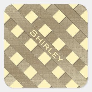 De Omheining van het rooster door Shirley Taylor Vierkante Sticker