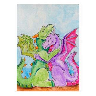 De Omhelzing van de draak Briefkaart
